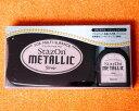 銀色 シルバー インク ステイズオン メタリック StazOn METALLIC 19938-192 こどものかお KODOMO NO KAO (メール便可 )
