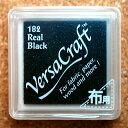 スタンプインク 黒色 ブラック くろ リアルブラック RealBrack バーサクラフトS VersaCraft 6206-182 インク スタンプ台 布用 こどものかお KODOMO NO KAO (クロネコDM便可!!)