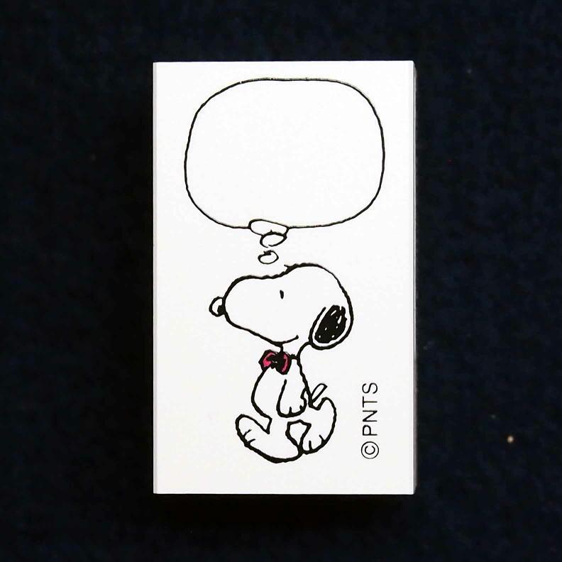 スヌーピーオフィススタンプ はんこ G:2256-008 スヌーピー 吹き出し 考え事 蝶ネクタイ 歩く Peanuts オフィス こどものかお KODOMO NO KAO (レターパックライト可!!)