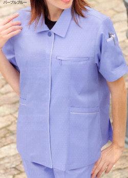 614 春夏用女子半袖スモック 桑和 作業服 S...の商品画像