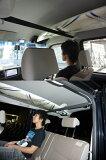 車内キャリアエブリィバンDA64V前ピラーと後ろダイレクト金具の組み合わせ