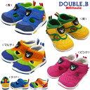 MIKIHOUSE(ミキハウス)DOUBLE_B(ダブルB)♪『つま先カバーベビーサンダル』ダブルラッセルメッシュ素材シューズ 靴12cm12.5cm13cm13.5c..