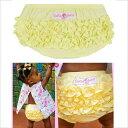 (送料無料)Ruffle Butts(ラッフルバッツ)イエロー(黄色)・フリフリコットンブルマ(Woven)フリルがいっぱいでかわいいおしりに♪