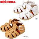 [MIKIHOUSE]【ミキハウス】つま先ガード☆やわらかベビーサンダル(12cm-15cm)[日本製](12-9308-971)[MIKIHOUSEの子供靴](ホワイト・ベ..