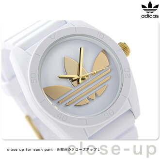 Adidas originals Santiago quartz watch ADH2917 adidas white / gold