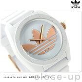 アディダス オリジナルス サンティアゴ 腕時計 ADH2918 adidas クオーツ ホワイト×ローズゴールド【あす楽対応】