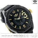 アディダス オリジナルス ニューバーグ メンズ 腕時計 ADH3011 adidas クオーツ オールブラック×ゴールド
