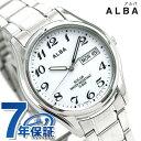 【10日当店なら!さらに 27倍で店内ポイント最大60倍】 セイコー アルバ ソーラー メンズ 腕時計 AEFD539 SEIKO ALBA デイデイト ホワイト 時計