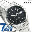 セイコー アルバ ソーラー ペアウォッチ メンズ 腕時計 AEFD540 SEIKO ALBA デイデイト ブラック【あす楽対応】