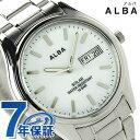 セイコー アルバ ソーラー ペアウォッチ メンズ 腕時計 AEFD541 SEIKO ALBA デイデイト ホワイト