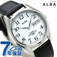 セイコー アルバ ソーラー ペアウォッチ メンズ 腕時計 AEFD543 SEIKO ALBA デイデイト ホワイト×ブラック