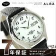 セイコー アルバ ソーラー ペアウォッチ メンズ 腕時計 AEFD545 SEIKO ALBA デイデイト ホワイト×ブラック