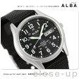 セイコー アルバ ソーラー デイデイト メンズ 腕時計 AEFD557 SEIKO ALBA ブラック
