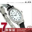 セイコー アルバ ソーラー オーバル レディース 腕時計 AEGD550 SEIKO ALBA ホワイト×ブラック