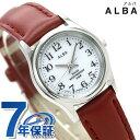 セイコー アルバ ソーラー レディース 腕時計 AEGD561 SEIKO ALBA ホワイト×ワインレッド
