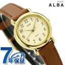 セイコー アルバ クオーツ レディース 腕時計 AQHK434 SEIKO ALBA ベージュ×ブラウン 時計