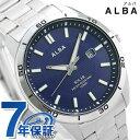 セイコー 腕時計 メンズ SEIKO スポーティ ソーラー ネイビー AQGD403 アルバ 時計