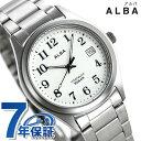 セイコー アルバ メンズ レディース 腕時計 カレンダー チタン AQGJ406 SEIKO ALBA クオーツ ホワイト 時計