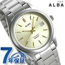 セイコー アルバ メンズ レディース 腕時計 カレンダー チタン AQGJ409 SEIKO ALBA クオーツ ゴールド 時計【あす楽対応】