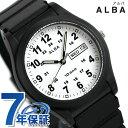 セイコー アルバ メンズ レディース 腕時計 カレンダー AQPJ407 SEIKO ALBA ホワイト×ブラック 時計