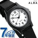 セイコー アルバ レディース 腕時計 ホワイト×ブラック ナイロンベルト クオーツ AQQK406 SEIKO ALBA 時計【あす楽対応】