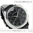 エンポリオ アルマーニ クラシック クロノグラフ AR1700 EMPORIO ARMANI メンズ 腕時計 ブラック レザーベルト