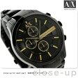 アルマーニ エクスチェンジ スマート クロノグラフ AX2164 AX ARMANI EXCHANGE メンズ 腕時計 オールブラック【あす楽対応】