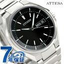 AT6050-54E シチズン アテッサ 電波ソーラー メンズ 腕時計 CITIZEN ATESSA ブラック 時計【あす楽対応】