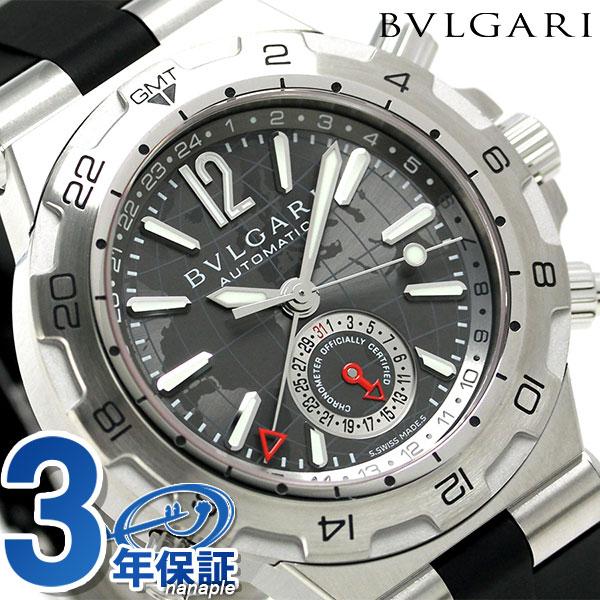 ブルガリ BVLGARI ディアゴノ 42mm 自動巻き 腕時計 DP42C14SVDGMT グレー×ブラック [新品][7年保証][送料無料]シチズン citizen 腕時計