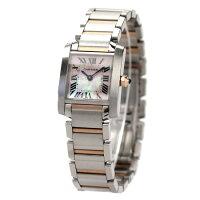 カルティエ腕時計タンクフランセーズレディースピンクシェル×ピンクゴールドCartierW51027Q4新品