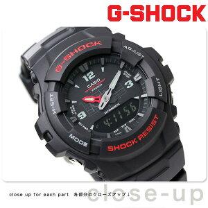 【5月上旬入荷予定 予約受付中♪】G-SHOCK CASIO G-100-1BV アナデジ 腕時計 カシオ Gショック スタンダードモデル ブラック 時計