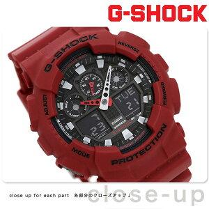 G-SHOCK CASIO GA-100B-4ADR 腕時計 カシオ Gショック コンビネーションモデル ブラック × レッド 時計【あす楽対応】