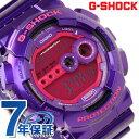 GD-100SC-6DR CASIO G-SHOCK G-ショック クレイジーカラーズ 高輝度LEDバックライト パープル×レッド