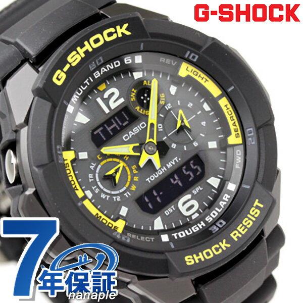 Gw 3500b 1aer quot g shock casio wave solar sky cockpit black 215 yellow