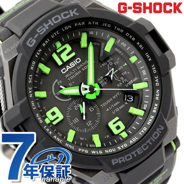 GW-4000-1A3ER CASIO G-SHOCK G-ショック 電波 ソーラー スカイコックピット ブラック×グリーン 【あす楽対応】