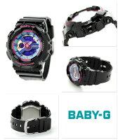 Baby-Gクオーツレディース腕時計BA-112-1ADRカシオベビーGブルー×ブラック