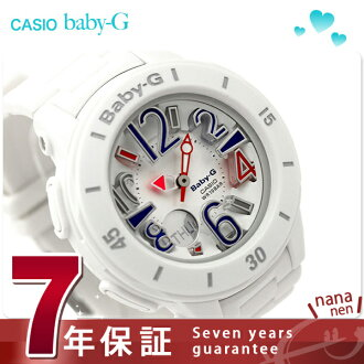 Baby G watches women's ネオンマリン series white CASIO baby-g BGA-170-7B2DR
