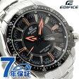 カシオ エディフィス 腕時計 デイデイト ブラック×オレンジ CASIO EDIFICE EF-130D-1A5VDF