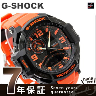 GA-1000-4ADR G-SHOCK SKY COCKPIT Quartz Men Watch Casio G-SHOCK Black × Orange