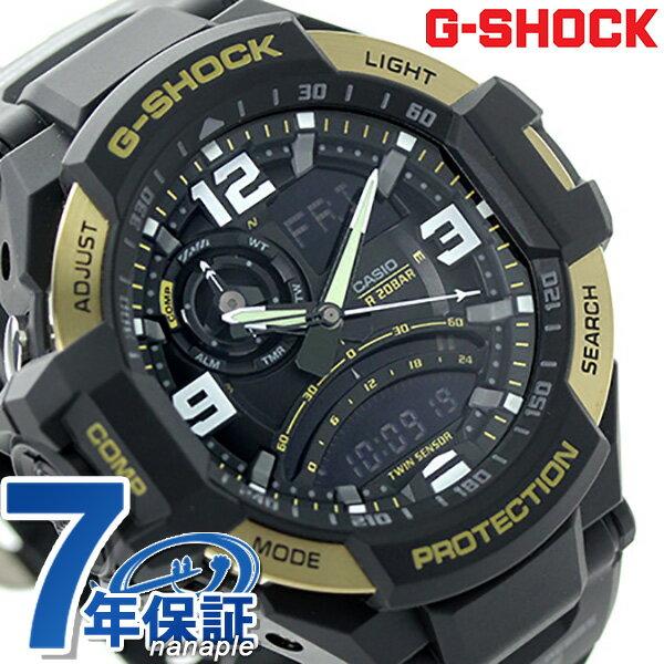 GA-1000-9GDR G-SHOCK スカイコックピット クオーツ メンズ 腕時計 カシオ Gショック ブラック×ゴールド [新品][7年保証]
