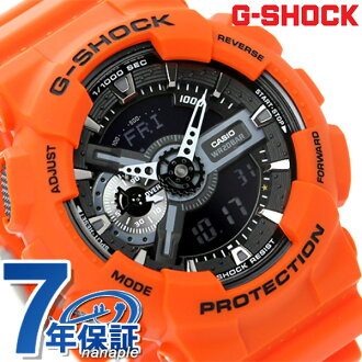 GA-110MR-4ADR g-shock Rescue Orange series mens watch Casio G-shock Quartz Black × Orange