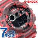GD-120CM-4DR G-SHOCK カモフラージュシリーズ 限定モデル メンズ カシオ Gショック 腕時計 クオーツ ブラック×レッド 【あす楽対応】
