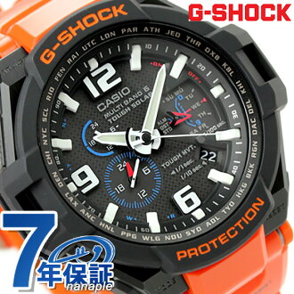 G-shock cockpit Sky Radio solar mens watch GW-4000R-4AER Casio G-shock black × orange