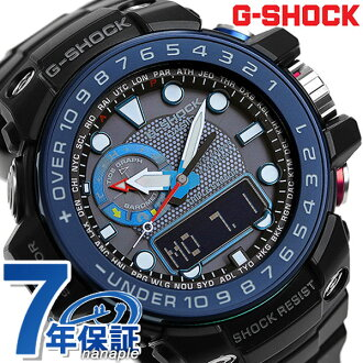 g-shock wave solar Gulf master mens watch GWN-1000B-1BER Casio G shock black × blue
