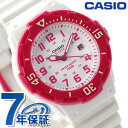 カシオ 腕時計 チープカシオ 海外モデル デイト LRW-200H-4BVDF CASIO クオーツ ホワイト×ピンク チプカシ 時計