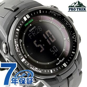 保捷行戶外廣播太陽能三感應器壓水型核反應爐-3000-1ADR 凱西歐 PRO 跋涉男式手錶全黑