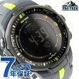 カシオ プロトレック 電波ソーラー 腕時計 メンズ トリプルセンサー ブラック×ネイビー CASIO PRO TREK PRW-3000-2DR【あす楽対応】