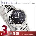 国内正規品 カシオ シーン 電波 ソーラー 腕時計 レディース ブラック CASIO SHEEN SHW-1504D-1AJF【あす楽対応】