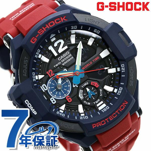 G-SHOCK スカイコックピット メンズ 腕時計 GA-1100-2ADR カシオ Gショック ブラック×レッド【あす楽対応】 -
