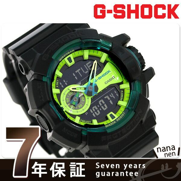 G-SHOCK ハイパーカラーズ メンズ 腕時計 GA-400LY-1ADR カシオ Gショック ブラック×グリーン【対応】 [新品][7年保証][送料無料]